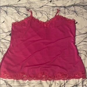 Ricki's - Hot pink lacy tank top XL